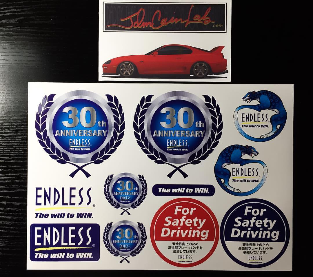Endless 30th Anniversary Decal Sheet